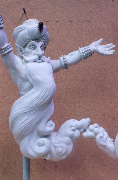 Grand scale foam carving